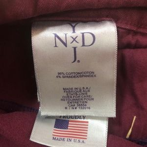 NYDJ Jeans - NYDJ - Burgundy Stretch Straight Legs